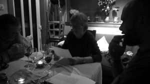 Sheila reading Tam O Shanter at the Nordic Noir Burns Supper
